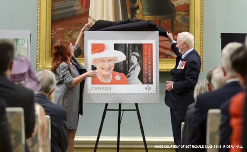 Mark­ing the Queen's Historic Reign: New Stamp Unveiled
